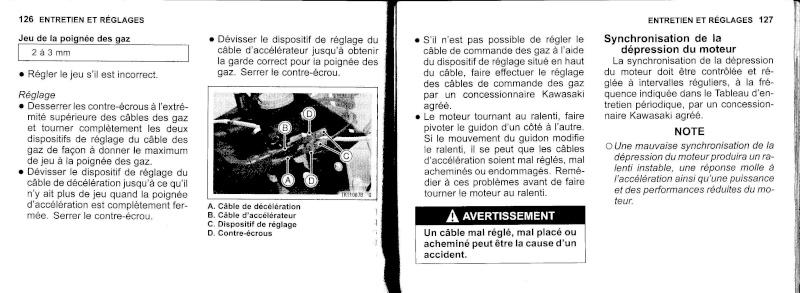manuel du propriétaire zx6r 2009 / 2010 6410