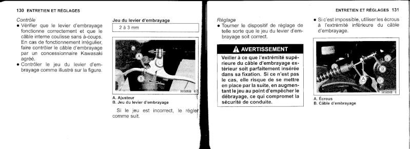 manuel du propriétaire zx6r 2009 / 2010 6610
