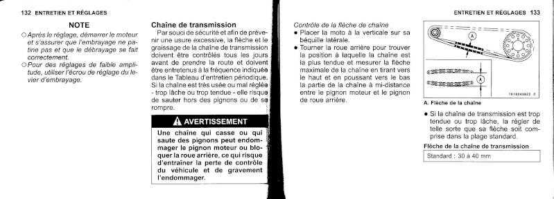 manuel du propriétaire zx6r 2009 / 2010 6710
