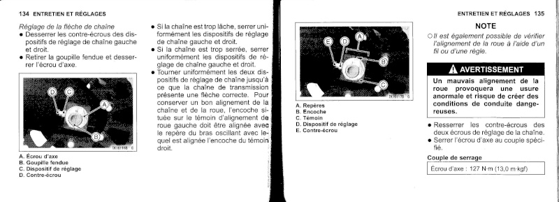 manuel du propriétaire zx6r 2009 / 2010 6810