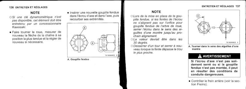 manuel du propriétaire zx6r 2009 / 2010 6910