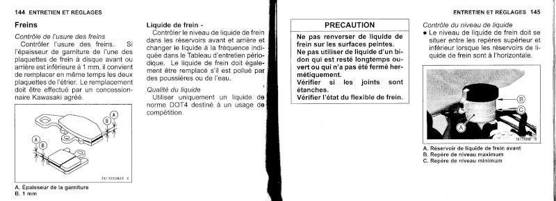 manuel du propriétaire zx6r 2009 / 2010 7310