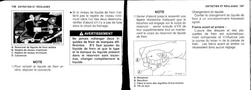 manuel du propriétaire zx6r 2009 / 2010 7410