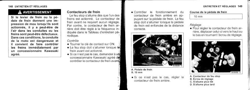 manuel du propriétaire zx6r 2009 / 2010 7510