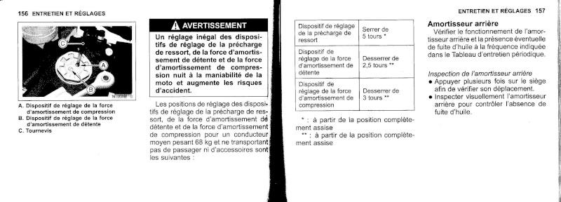 manuel du propriétaire zx6r 2009 / 2010 7910