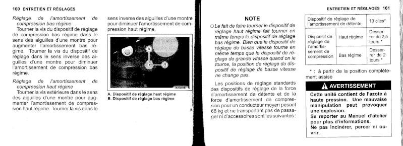 manuel du propriétaire zx6r 2009 / 2010 8110