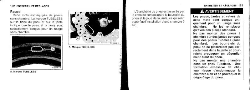 manuel du propriétaire zx6r 2009 / 2010 8210