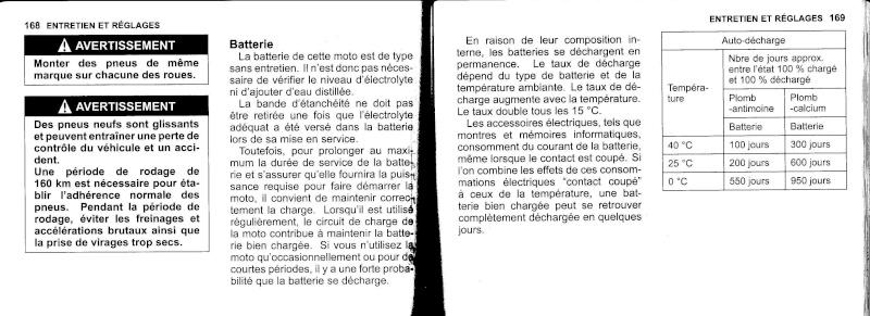 manuel du propriétaire zx6r 2009 / 2010 8510
