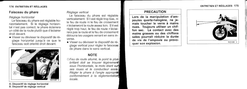 manuel du propriétaire zx6r 2009 / 2010 8810
