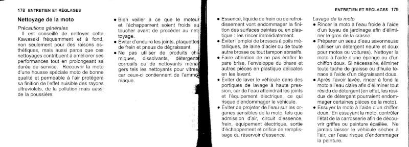 manuel du propriétaire zx6r 2009 / 2010 9010