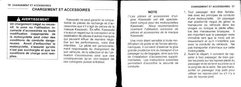 manuel du propriétaire zx6r 2009 / 2010 910