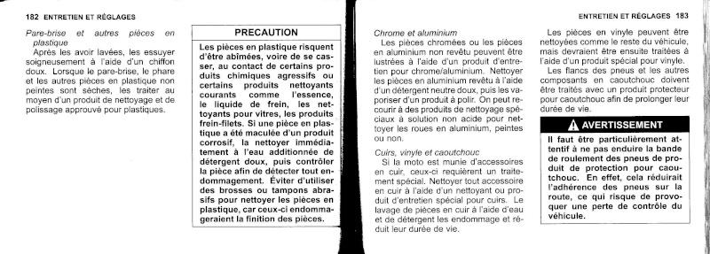 manuel du propriétaire zx6r 2009 / 2010 9210