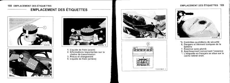 manuel du propriétaire zx6r 2009 / 2010 9510