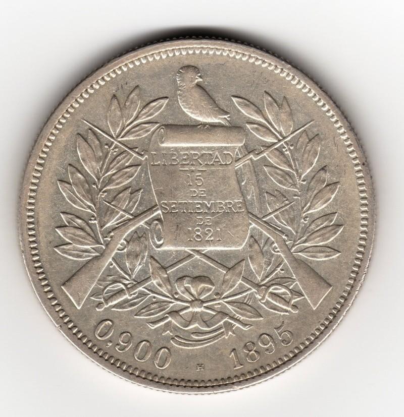 1 Peso. Guatemala. 1895. Birmingham Img40310