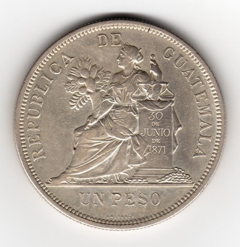 1 Peso. Guatemala. 1895. Birmingham Img40410
