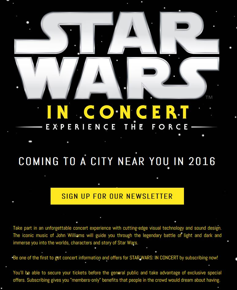 Star Wars In concert 2018 Annonc10
