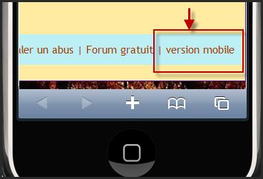 Comment passer à la version portable (Mobile?) 11-01-11