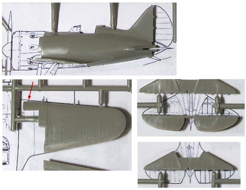 Montage: Polikarpov I-16 type 10 1/72 Montag22