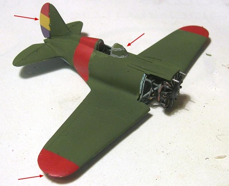 Montage: Polikarpov I-16 type 10 1/72 Montag41