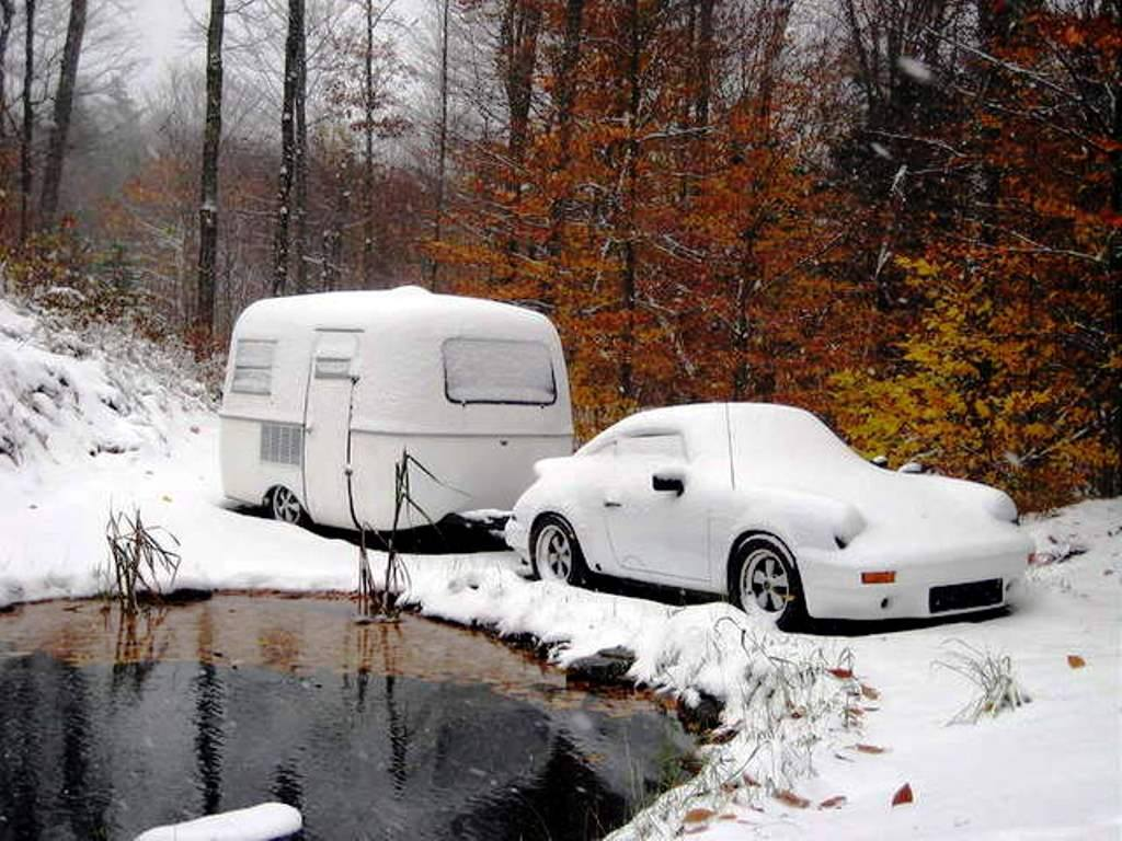 Porsche en hiver 10926310