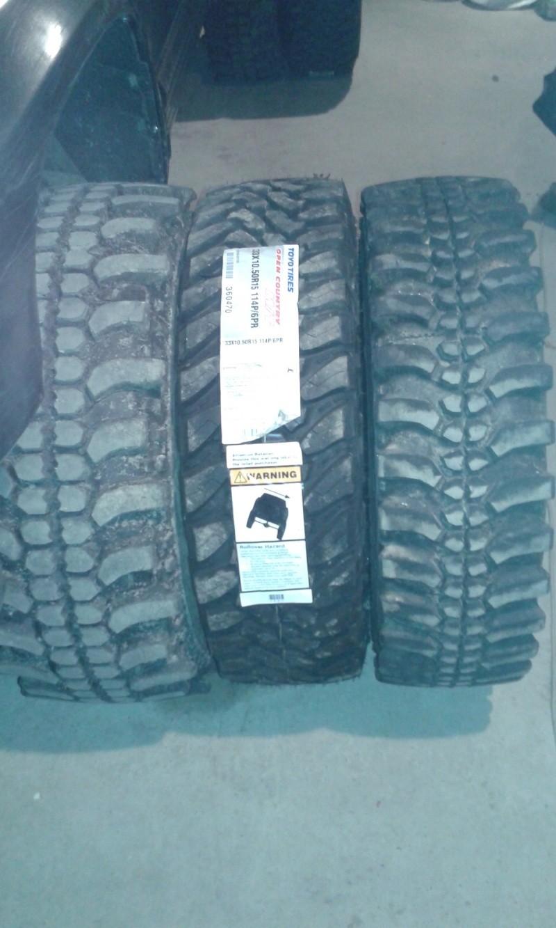 Vente Lot de pneus mud neufs Toyo1013