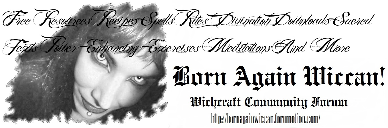 Born Again Wiccan: Witchcraft Community Forum!