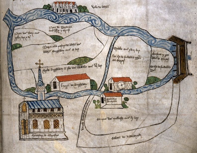 Carte de Chertsey, en Angleterre, au XVe siècle 12507112
