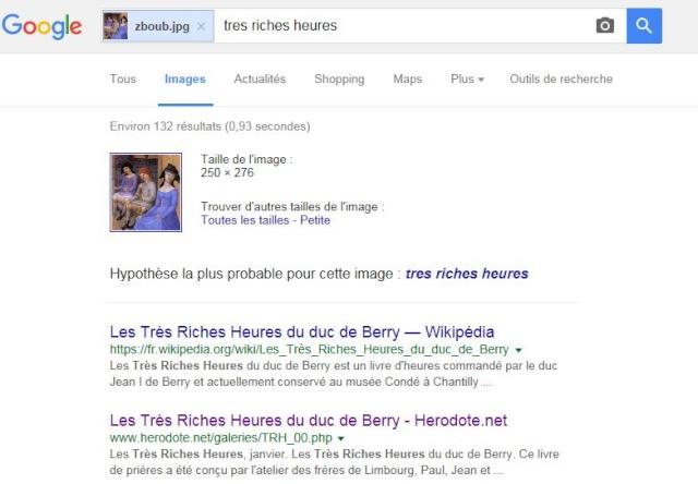 [tutoriel] rechercher les références d'une image de source inconnue avec google Tuto310