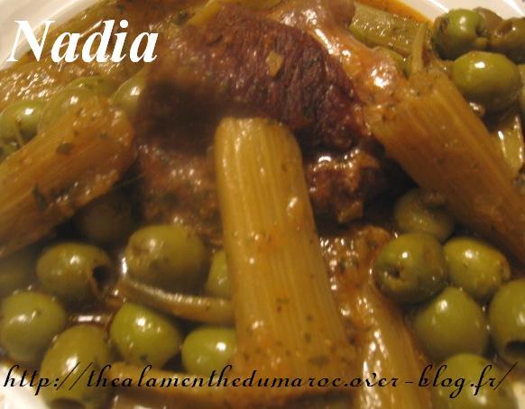 Dwaz ou Mar9a ou Tadwazt Marocain au Boeuf, Cardons et Olives/ Dwaz B'lkhorchof ou L'5orchof Tajine10