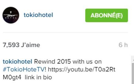[Instagram Officiel] Instagram  Bill,Tom,Gus,Georg et TH Sans_t98