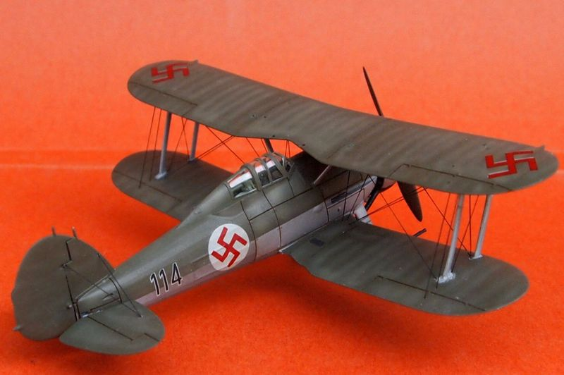Gloster Gladiator letton (Airfix 1/72  et décals Aviation USK) Gladia17