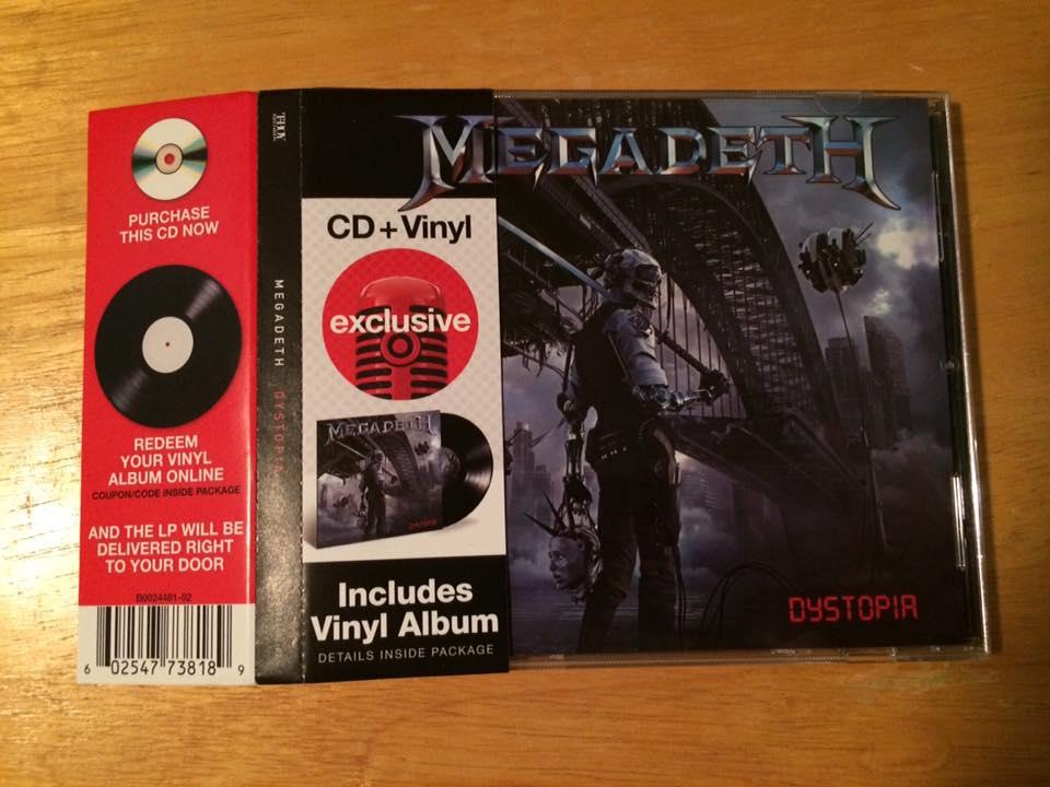 "MEGADETH  ""Dystopia""  (JAN 2016) 10650010"