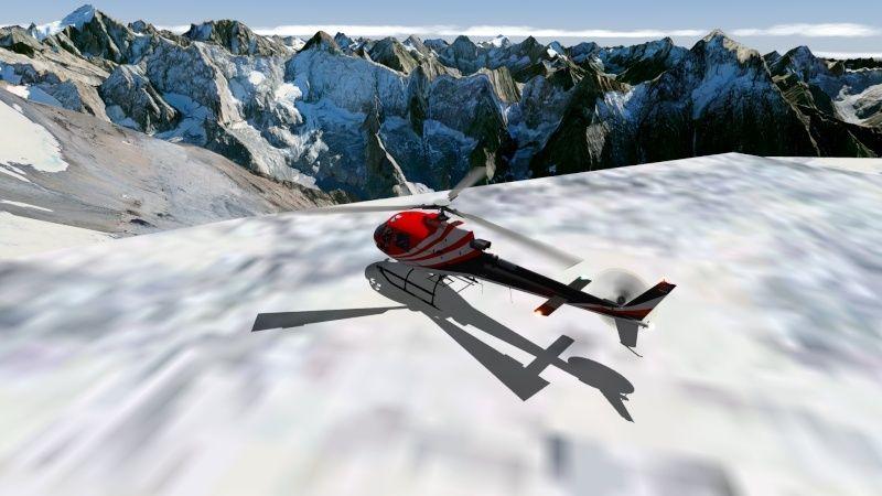 Vol du 23 Janvier AS 350 B3 sur l'Alpe d'Huez As350b39