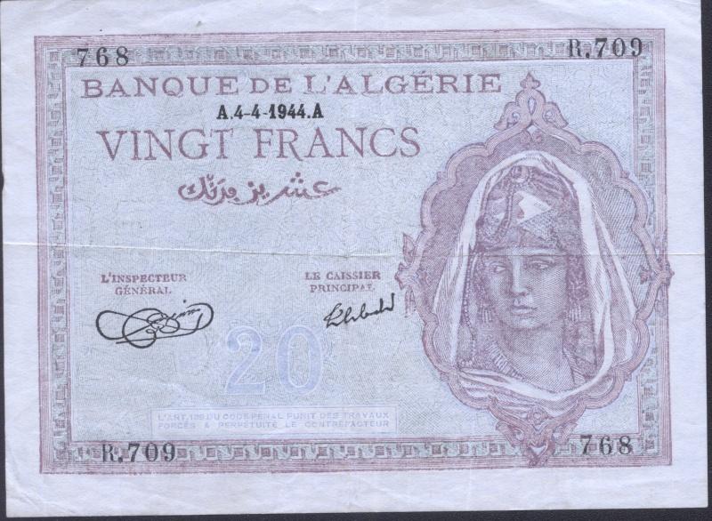 Echange - Billets Algérie < 1962 P92a_210