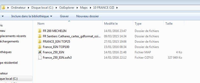 OziExplorer et ses liaisons cartographiques Ozi0310