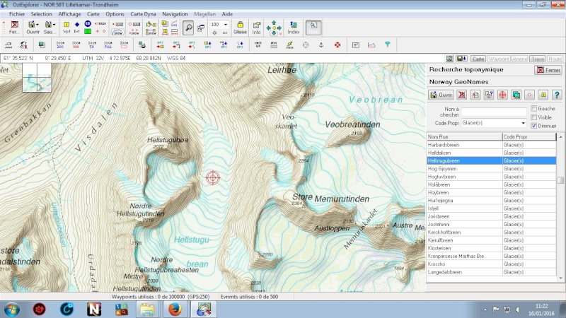 OziExplorer et ses liaisons cartographiques Ozi210