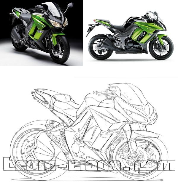 Conception Caricatures du Z1000 2010/2011 et Z1000SX 2011 - Page 3 Z1000s11