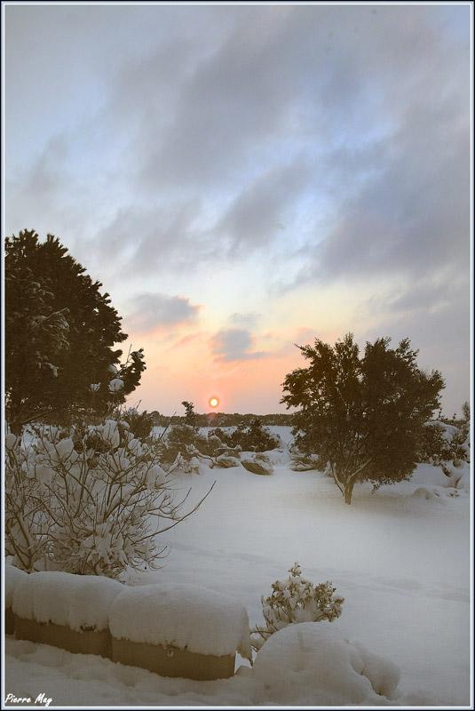 Vue de la neige à Carcassonne le 8 mars dernier Neige_14