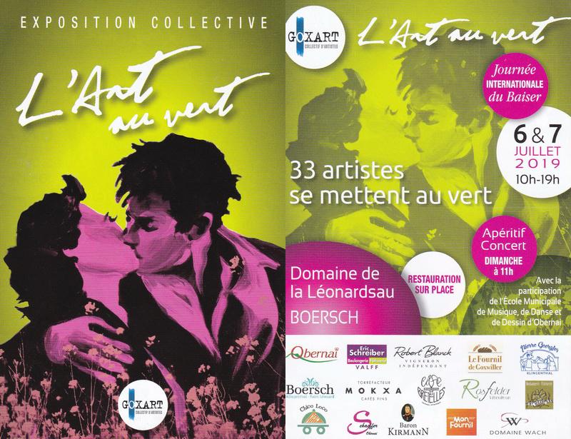 """Boersch ( 67 ) les 6 & 7 juillet 2019 , """" l' Art au Vert """" Goxart10"""