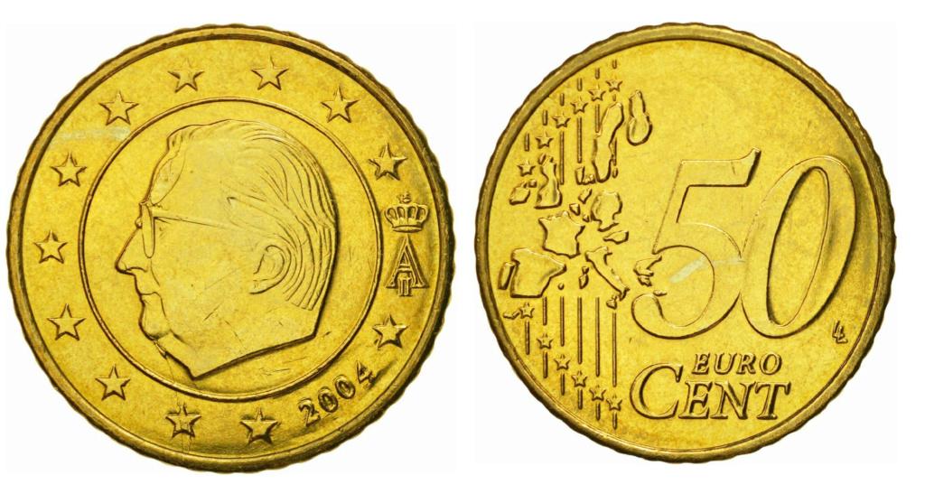 Moneda50 Centimos de Euro 2004 Belgica. ERROR 50_err10