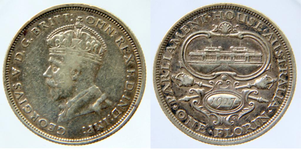 Moneda de plata 1 florin del rey Jorge V de 1920 Inglaterra -  Austra10