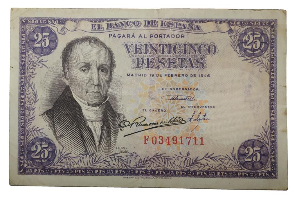 25 Pesetas, 1946 Billet10