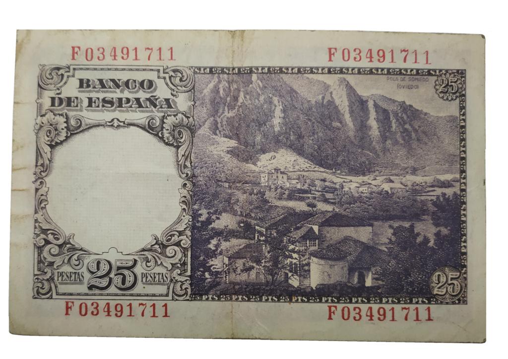 25 Pesetas, 1946 Billet11