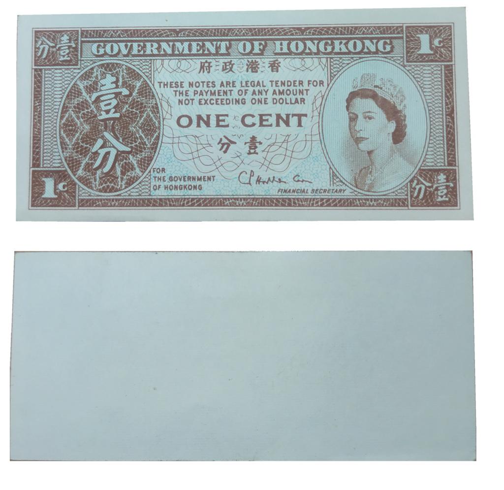 Billete Hong Kong 1 centavo Billet12