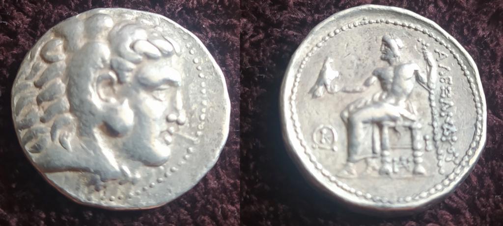 Dracma de Alexandro III Magno.  ΑΛΕΞΑΝΔΡΟΥ. Sardes Dracma10