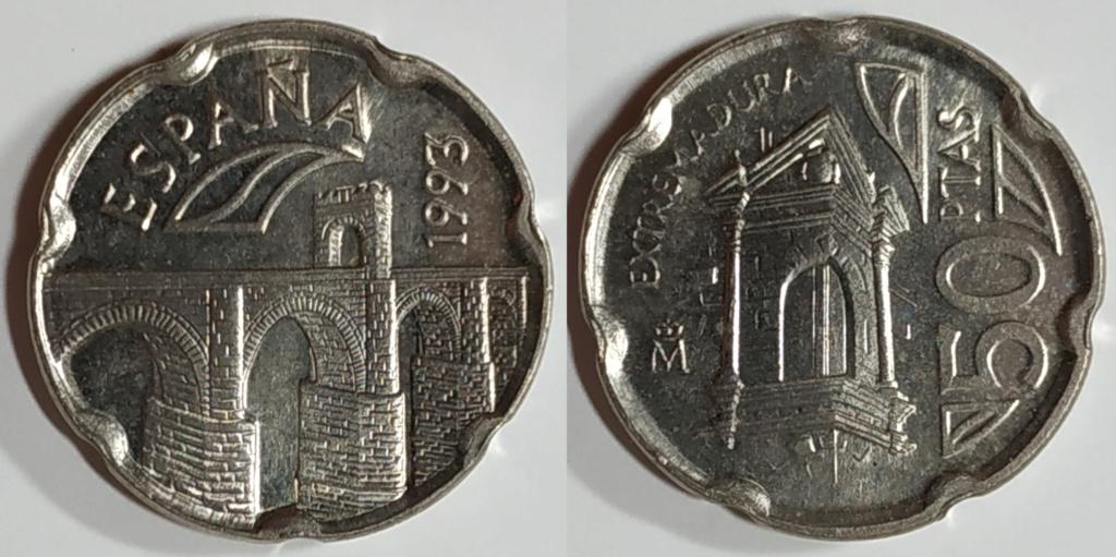Moneda 50 pesetasextremadura 1993 Entera10