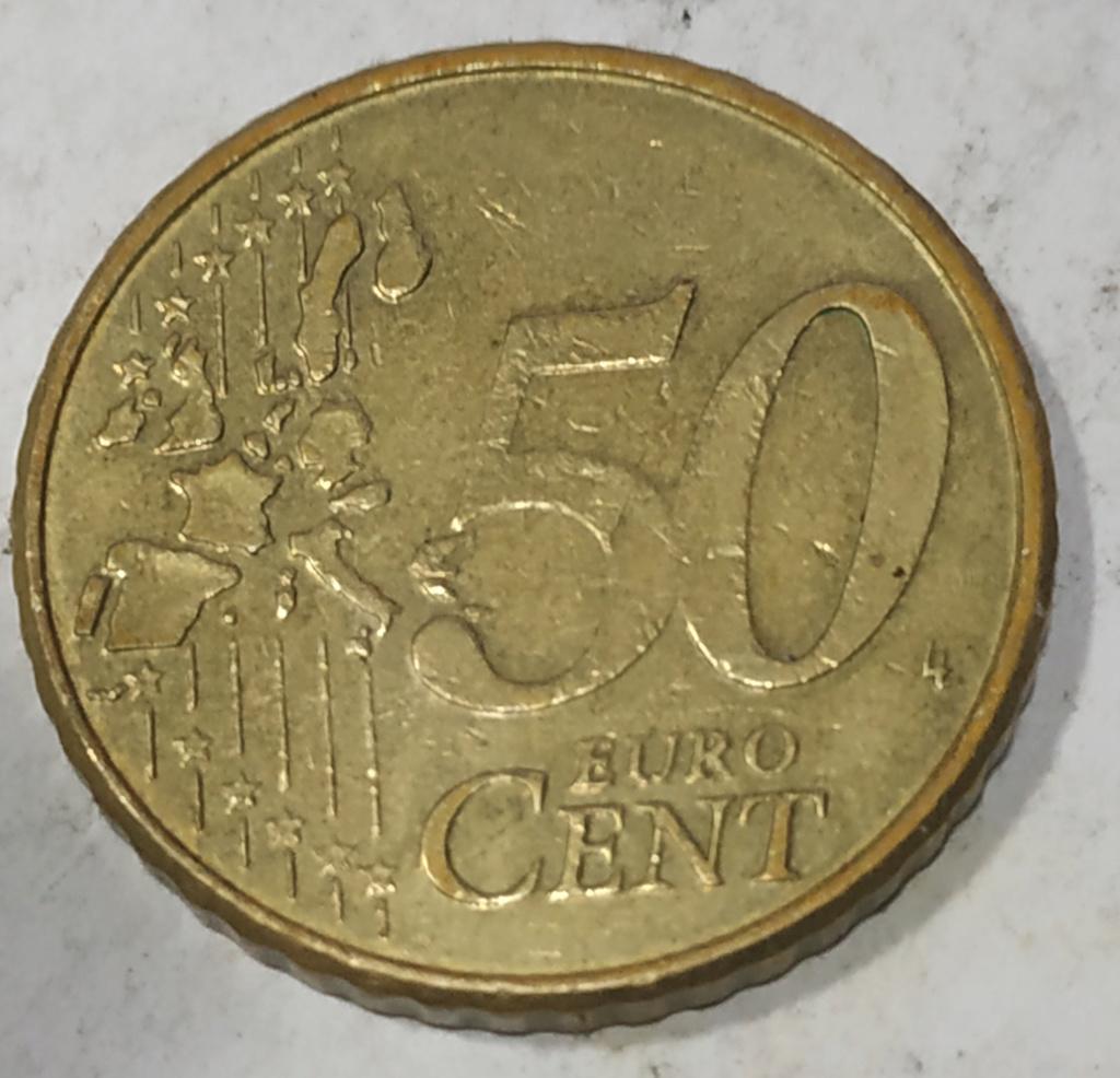 Moneda50 Centimos de Euro 2004 Belgica. ERROR Error210