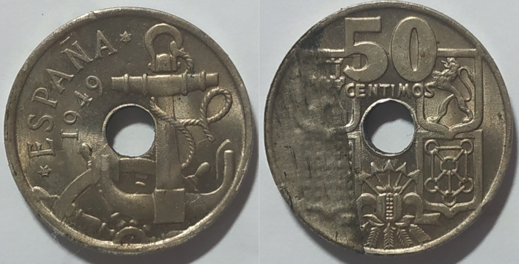 Moneda 50 centimos 1949 Franco ¿ERROR? Franco10