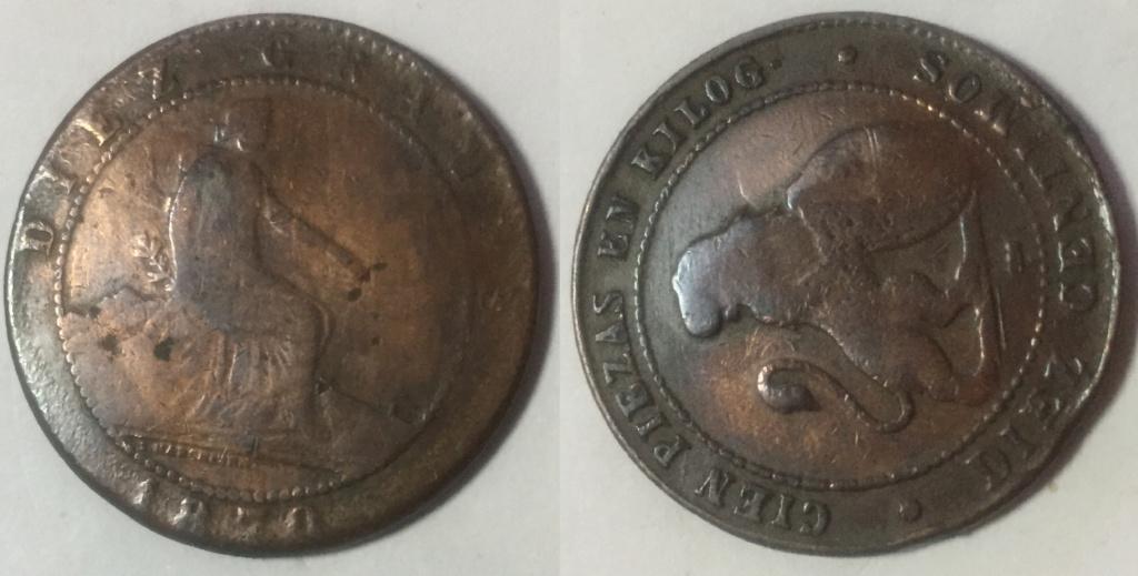 Moneda 1870 Gobierno Provisional. con  ERROR ? Govi1810