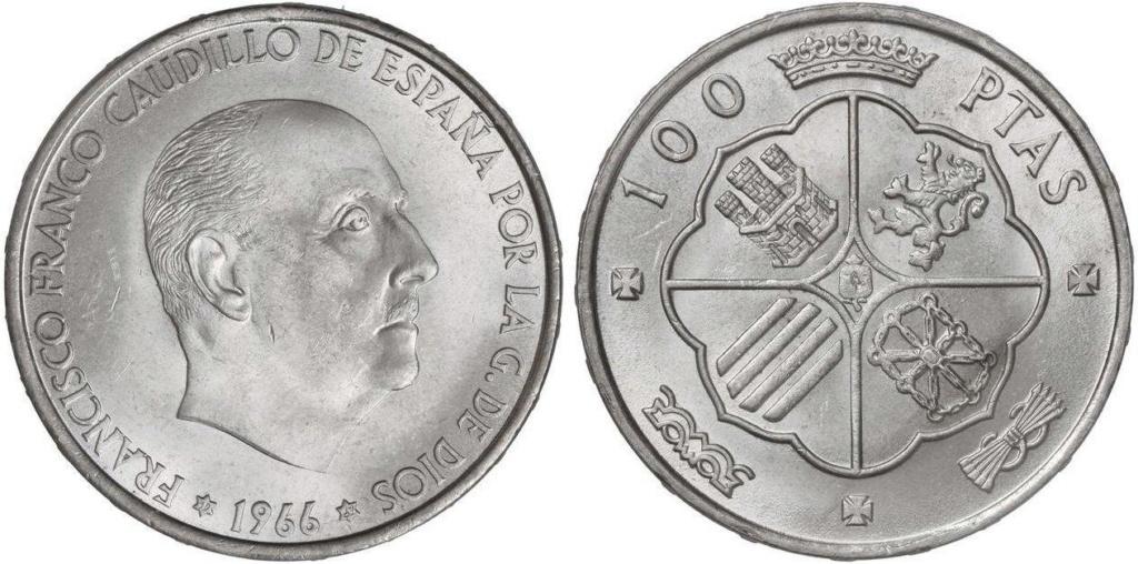 100 Pesetas 1966 (*19-67). Estado Español.  Variante posición leyenda en el canto. ¿Pregunta? Image010